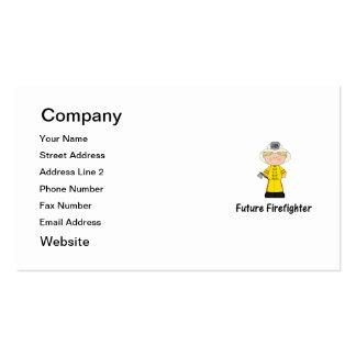 future firefighter (boy) business cards