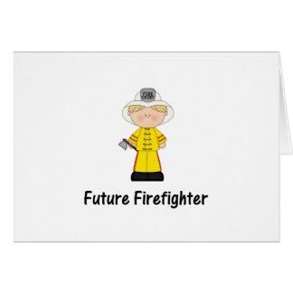 future firefighter (boy) card