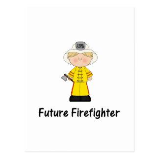 future firefighter (boy) postcard