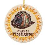 Future Firefighter Ceramic Ornament