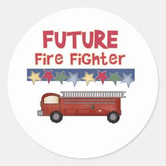 Future Firefighter Classic Round Sticker