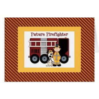 Future Firefighter Dark Hair Card