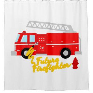 Future Firefighter Fire Truck Shower Curtain