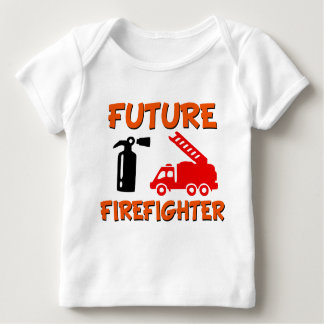 Future Firefighter funny baby boy shirt