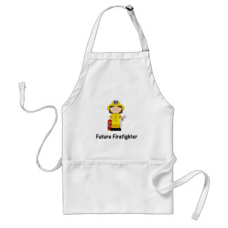 future firefighter (girl) adult apron