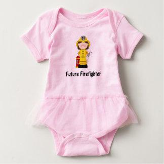 Future Firefighter Girl Baby Bodysuit