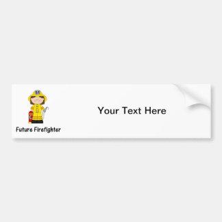 future firefighter (girl) bumper sticker