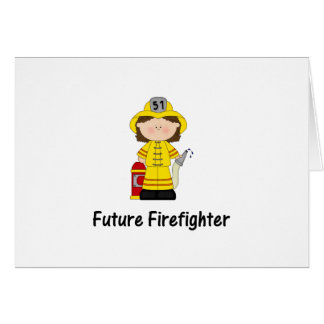 future firefighter (girl) card