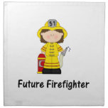 future firefighter (girl) cloth napkins