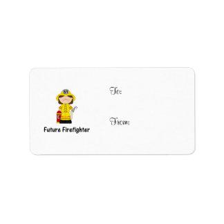 future firefighter (girl) label