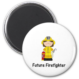 future firefighter (girl) 2 inch round magnet
