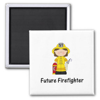 future firefighter (girl) 2 inch square magnet