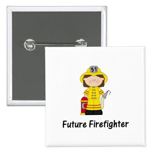 future firefighter (girl) pinback button