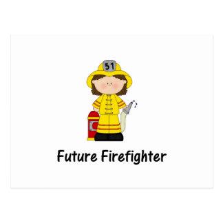 future firefighter (girl) postcard