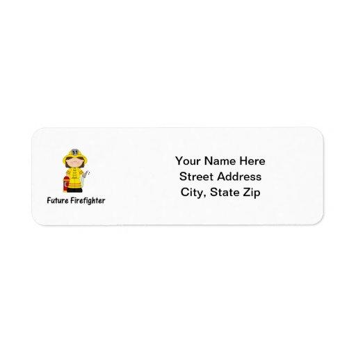 future firefighter (girl) return address label