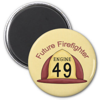 future Firefighter Hat 2 Inch Round Magnet