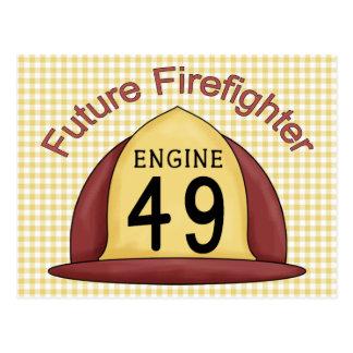 future Firefighter Hat Postcard