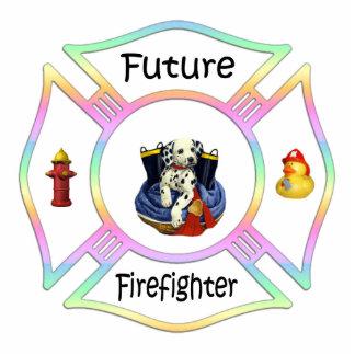 Future Firefighter Kids Photo Sculpture Ornament