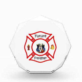 Future Firefighter Red Maltese Acrylic Award
