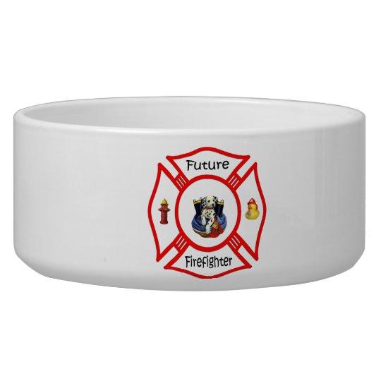 Future Firefighter Red Maltese Bowl