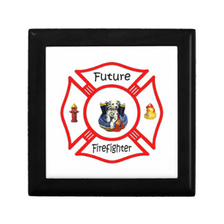 Future Firefighter Red Maltese Jewelry Box