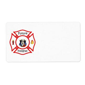 Future Firefighter Red Maltese Label