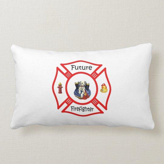 Future Firefighter Red Maltese Lumbar Pillow