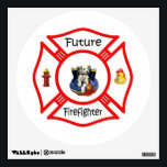 """Future Firefighter Red Maltese Wall Sticker<br><div class=""""desc"""">Firefighters and fire dept brotherhood pride symbols</div>"""