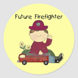Future Firefighter Tshirts and Gifts Classic Round Sticker