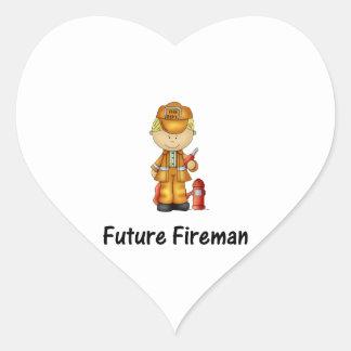 future fireman (2) heart sticker