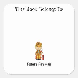future fireman (2) square sticker