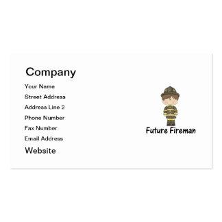 future fireman business card templates