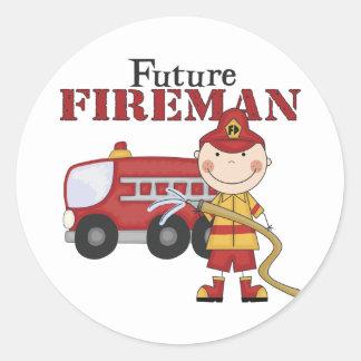 Future Fireman Classic Round Sticker
