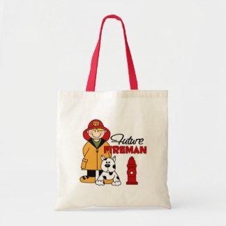 Future Fireman Firefighter Children s Gifts Canvas Bags