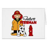 Future Fireman Firefighter Children's Gifts Card