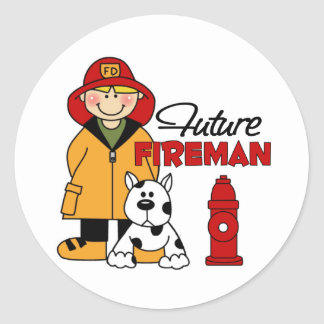 Future Fireman Firefighter Children's Gifts Classic Round Sticker