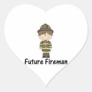 future fireman heart sticker