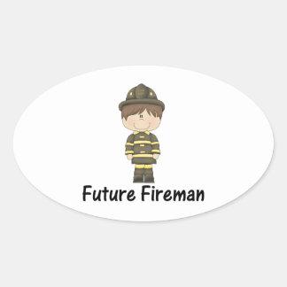 future fireman oval sticker