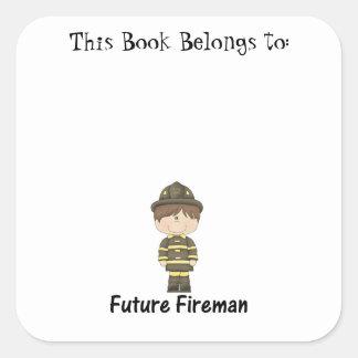 future fireman square sticker