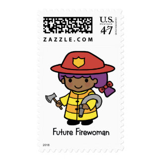 Future Firewoman Postage Stamp