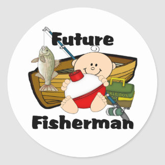 Future Fisherman Classic Round Sticker