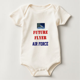 FUTURE FLYER   AIR FORCE  USAF BABY BODYSUIT
