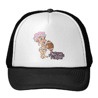 future football player girl trucker hat