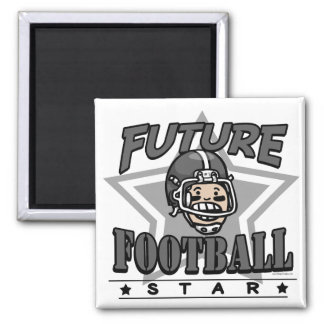 Future Football Star Black Helmet Magnet