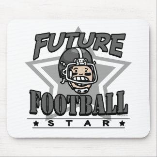 Future Football Star Black Helmet Mouse Pad
