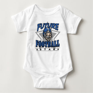 Future Football Star Blue Helmet Baby Bodysuit