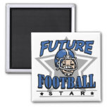 Future Football Star Blue Helmet Magnet