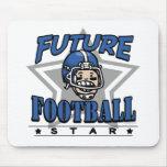 Future Football Star Blue Helmet Mousepads