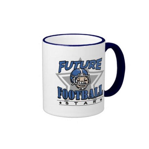 Future Football Star Blue Helmet Ringer Coffee Mug