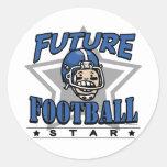 Future Football Star Blue Helmet Stickers